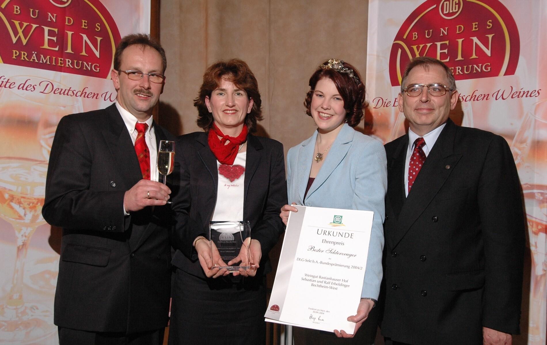 Weingut Bastianshauser Hof - 2004 Ehrenpreis Bester Sekterzeuger