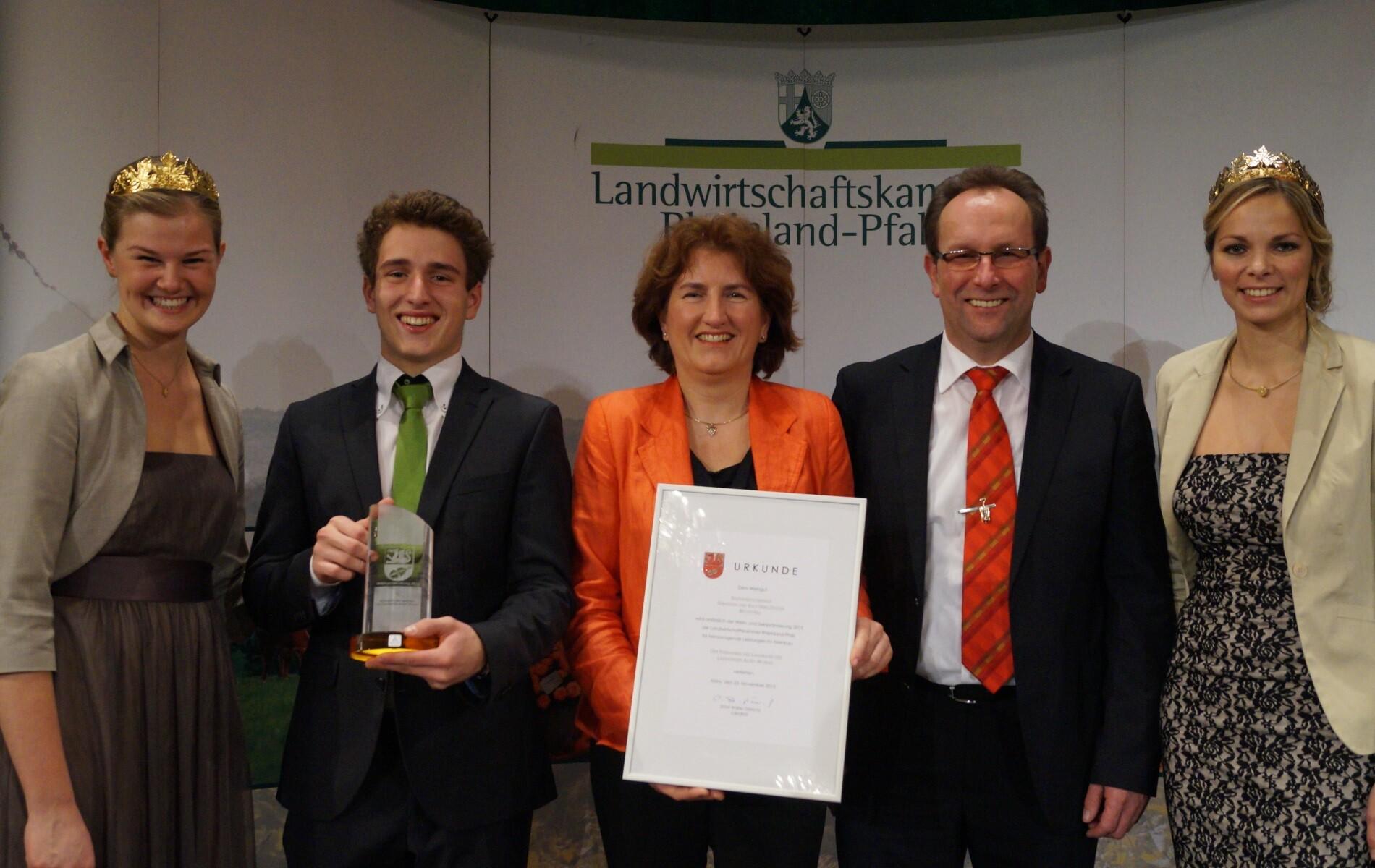 Weingut Bastianshauser Hof - 2015 Weinpraemierung Ehrenpreis des Landkreises