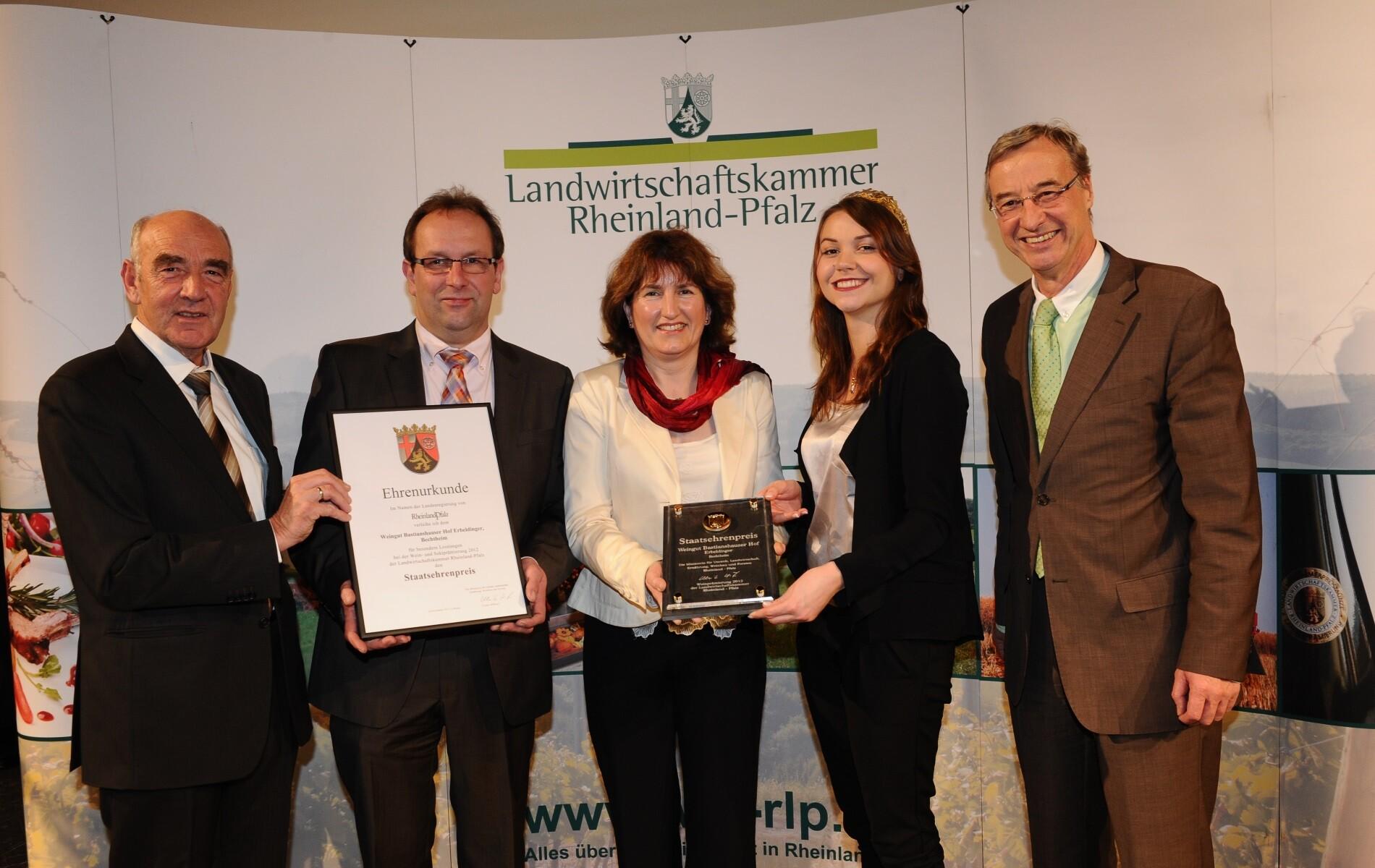Weingut Bastianshauser Hof - Staatsehrenpreis 2012