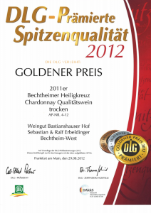 Weingut Bastianshauser Hof - DLG Goldener Preis 2012