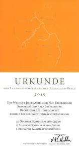Weingut Bastianshauser Hof - LWK 2015