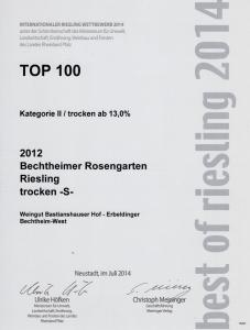 Weingut Bastianshauser Hof - Best of Riesling 2014 Top 100