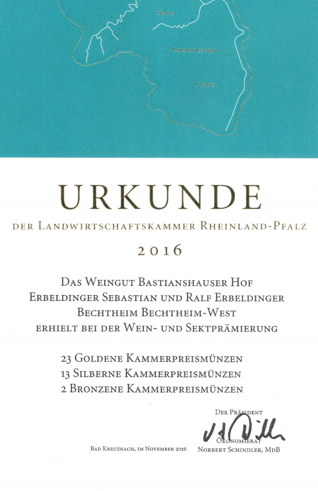 Weingut Bastianshauser Hof - Landwirtschaftskammer 2016