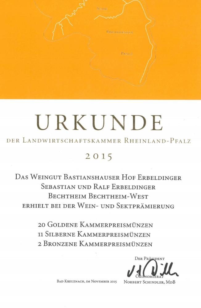 Weingut Bastianshauser Hof - Landwirtschaftskammer 2015