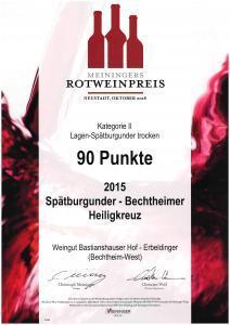 Meiningers Rotweinpreis Weingut Sebastian und Ralf Erbeldinger Bechtheim-West Rheinhessen