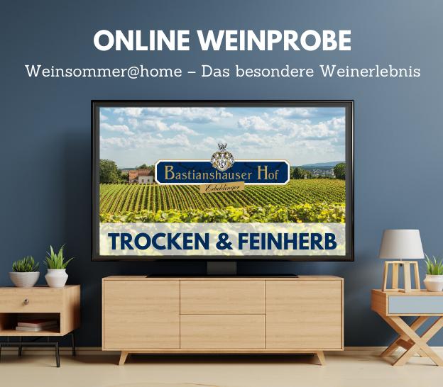 Online Weinprobe Feinherb & Trocken