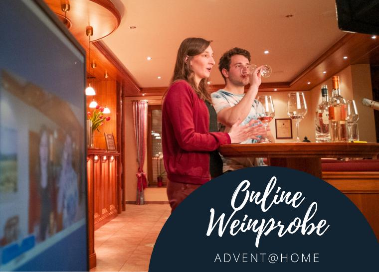 Online Weinprobe Advent@Home